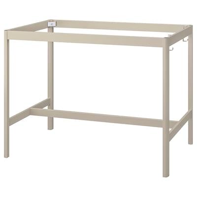 IDÅSEN Underframe for table top, beige, 139x69x102 cm