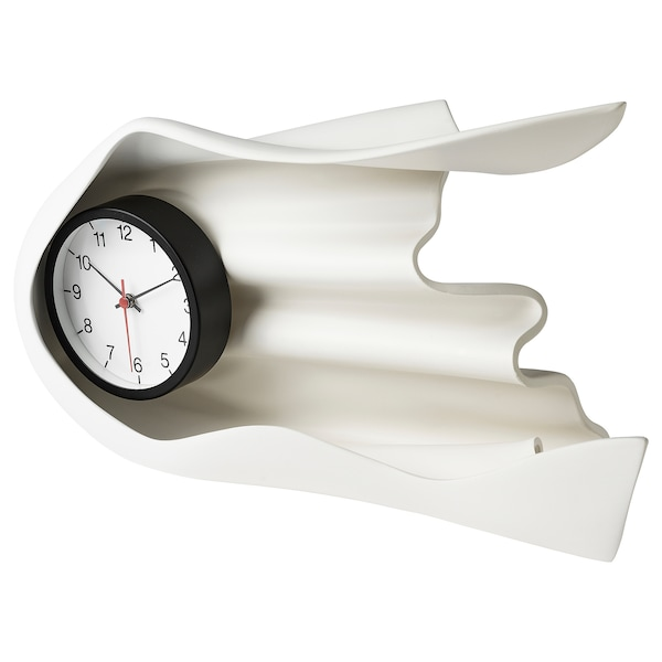 IKEA ART EVENT 2021 Clock, white, 40x14x22 cm