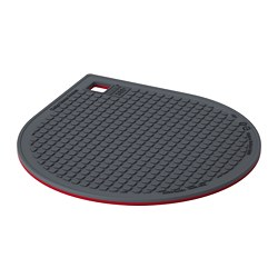 IKEA 365+ GUNSTIG pot stand, magnetic, red, dark grey