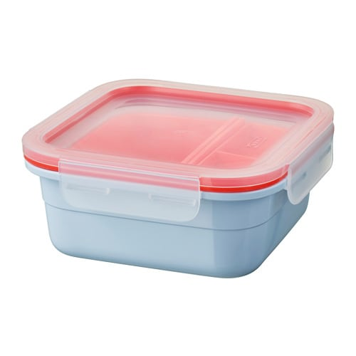 IKEA 365+ Lunch box with inserts IKEA This lunch box has 2 removable inserts so that you can separate your main course from your salad and sauce.