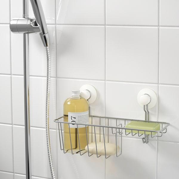 IMMELN shower/soap basket with hook zinc plated 30 cm 12 cm 15 cm 4 kg
