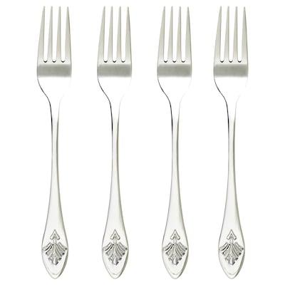 INBJUDEN Cake/dessert fork, stainless steel