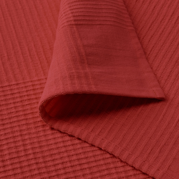 INDIRA Bedspread, red-orange, 230x250 cm