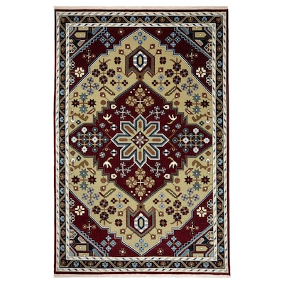INDO MIX Rug, low pile, red/blue, 200x300 cm