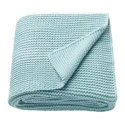 INGABRITTA throw, light blue