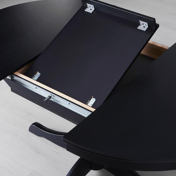INGATORP / INGATORP Table and 4 chairs, black, 110/155 cm