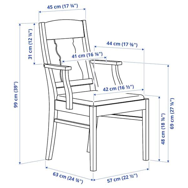 INGATORP / INGATORP طاولة و4 كراسي, أبيض, 110/155 سم
