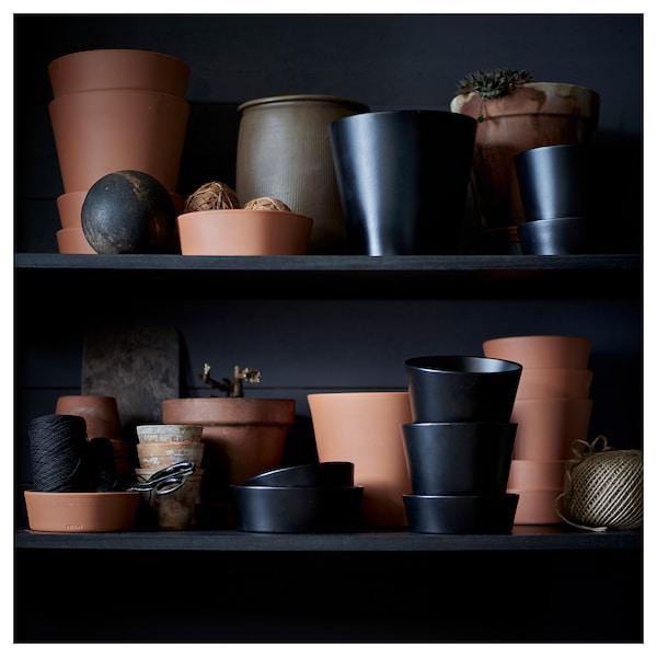 INGEFÄRA plant pot with saucer outdoor/terracotta 20 cm 20 cm 15 cm 18 cm