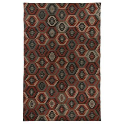 INGSTRUP Rug, flatwoven, multicoloured, dark, 200x300 cm