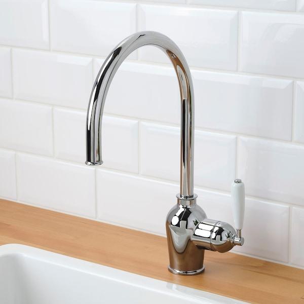 INSJÖN Kitchen mixer tap w sensor, chrome-plated