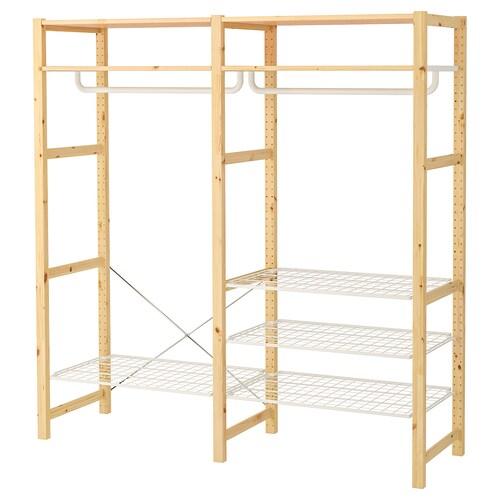 IVAR shelving unit with shelves/rails pine 174 cm 50 cm 179 cm