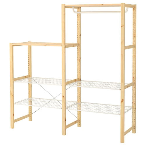 IVAR shelving unit with shelves/rails pine 174 cm 50 cm 124 cm 179 cm