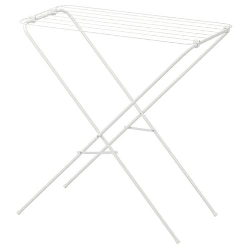 JÄLL drying rack, in/outdoor white 79 cm 40 cm 82 cm