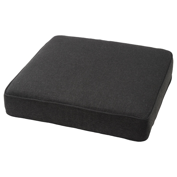 JÄRPÖN Cover for seat cushion, outdoor anthracite, 62x62 cm