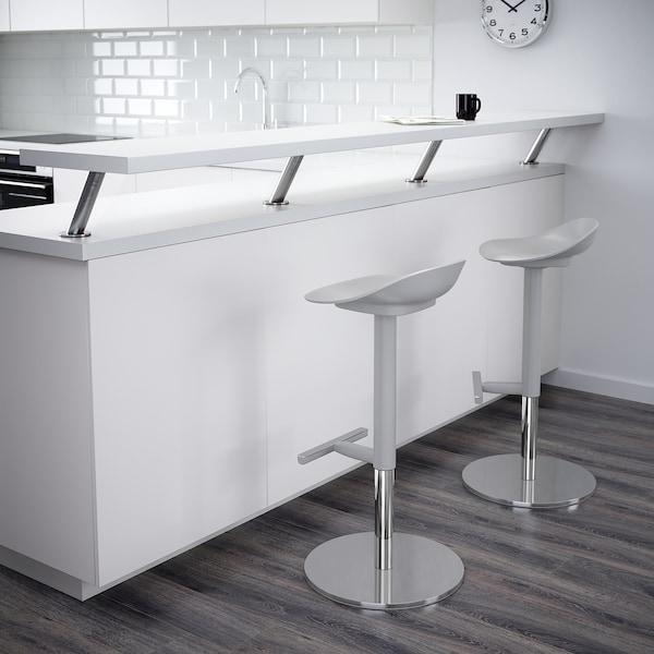 JANINGE Bar stool, grey, 76 cm