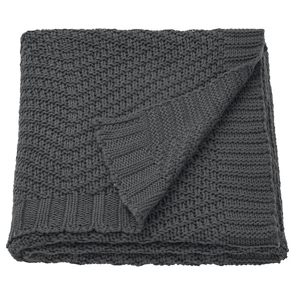 JENNYANN Throw, dark grey, 130x170 cm