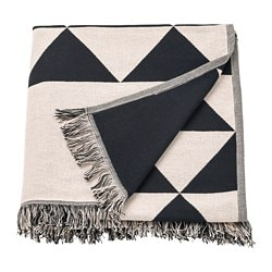 JOHANNE throw, black/white black/natural