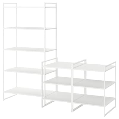 JONAXEL Shelving unit, white, 182x51x160 cm