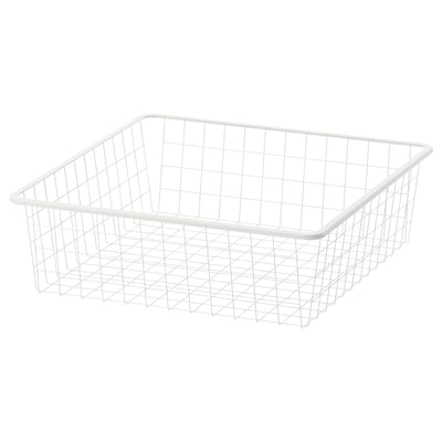 JONAXEL Wire basket, white, 50x51x15 cm