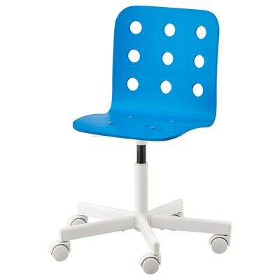 JULES Children's desk chair, blue/white
