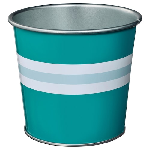 KAKIPLOMMON plant pot in/outdoor turquoise 10 cm 11 cm 9 cm 10 cm