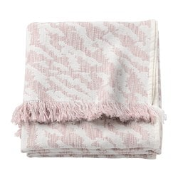 KAPASTER throw, off-white, pink