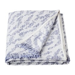 KAPASTER throw, white, blue
