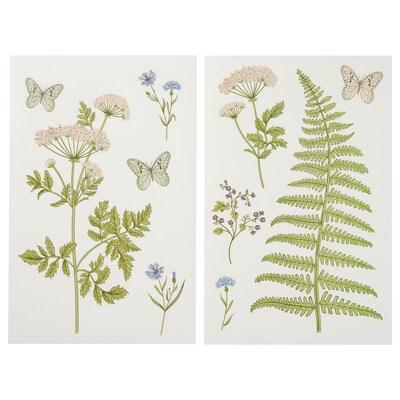 KINNARED Decoration stickers, Fern & flowers