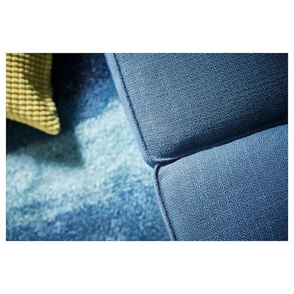 KIVIK كنبة زاوية، 6 مقاعد, مع أريكة طويلة/Hillared أزرق غامق