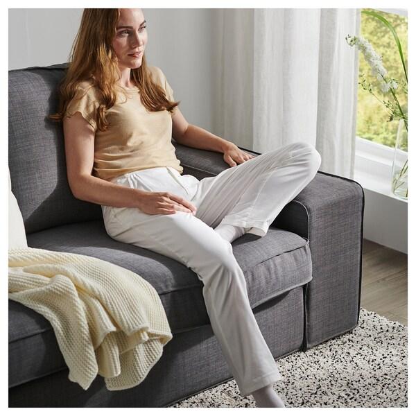 KIVIK كنبة زاوية، 6 مقاعد, مع أريكة طويلة/Skiftebo رمادي غامق