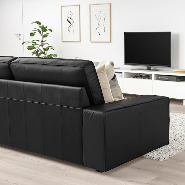 KIVIK Three-seat sofa, Grann/Bomstad black