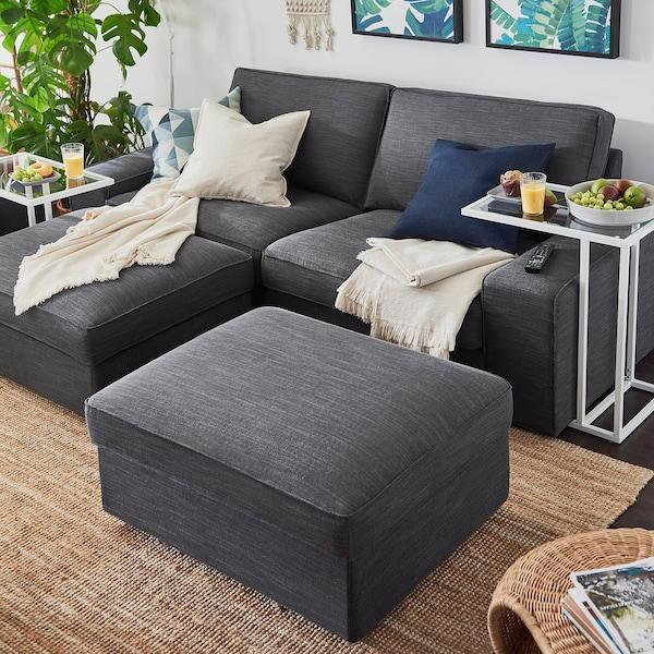 KIVIK Three-seat sofa, Hillared anthracite