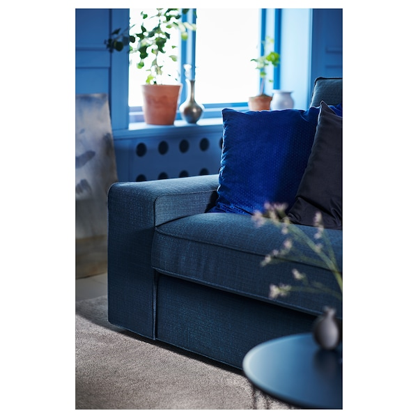 KIVIK كنبة ثلاث مقاعد, Hillared أزرق غامق