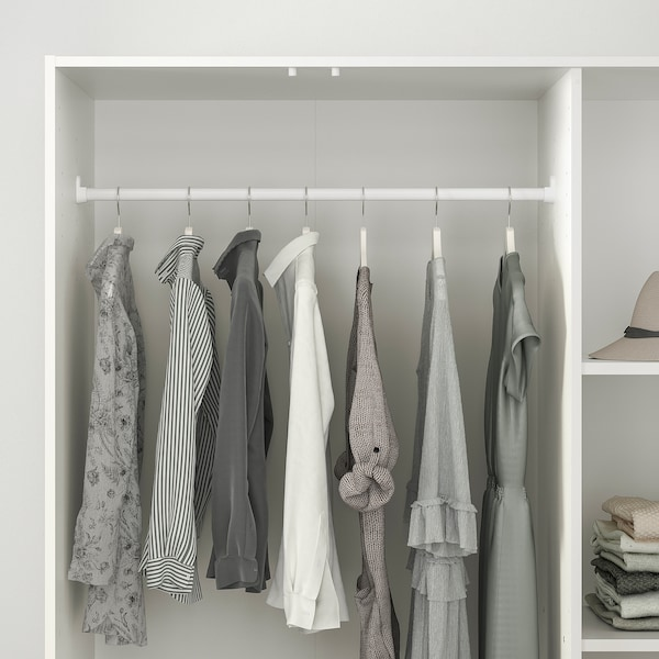 KLEPPSTAD wardrobe with 3 doors white 117 cm 55 cm 176 cm