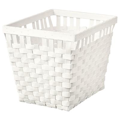KNARRA Basket, white, 38x29x30 cm