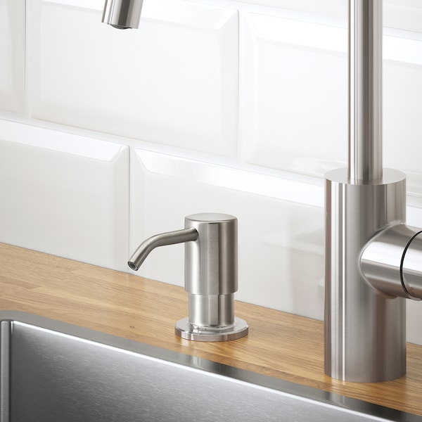 KNIPEN Detergent dispenser, stainless steel, 5 dl