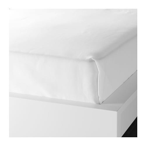 KNOPPA Sheet IKEA The polyester/cotton blend is easy to care for since the fabric is less liable to shrink and crease.