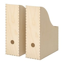 KNUFF magazine file set of 2, plywood