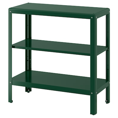 KOLBJÖRN Shelving unit in/outdoor, green, 80x81 cm