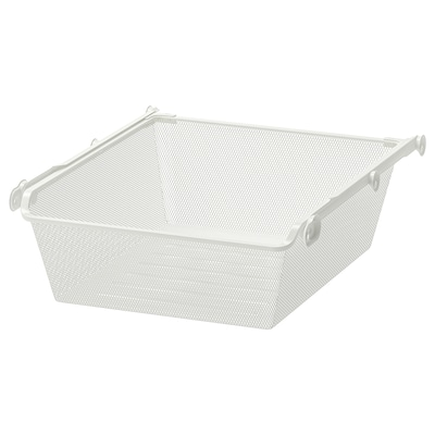 KOMPLEMENT Mesh basket with pull-out rail, white, 50x58 cm