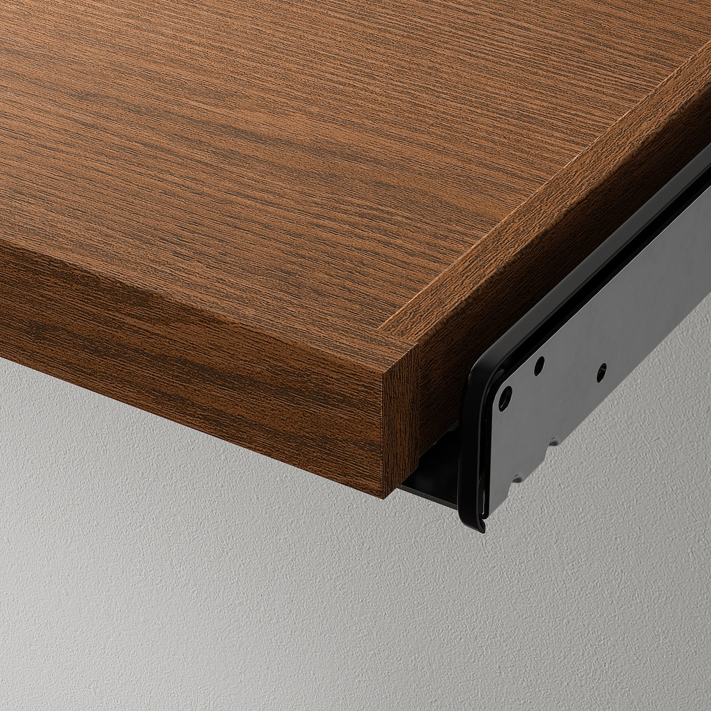 KOMPLEMENT Pull-out tray, brown stained ash effect, 50x58 cm