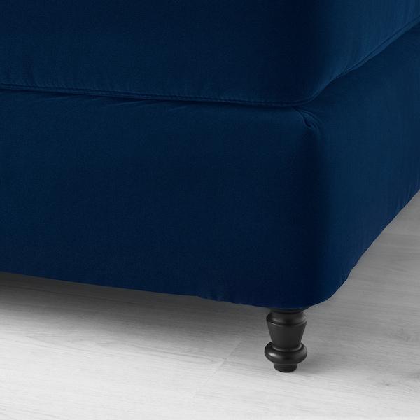 KONGSFJORD divan bed Hyllestad medium firm/Tussöy Djuparp dark green-blue 217 cm 160 cm 139 cm 200 cm 160 cm