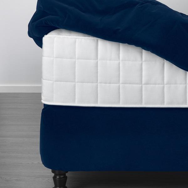 KONGSFJORD divan bed Hyllestad medium firm/Tustna Djuparp dark green-blue 217 cm 180 cm 139 cm 200 cm 180 cm