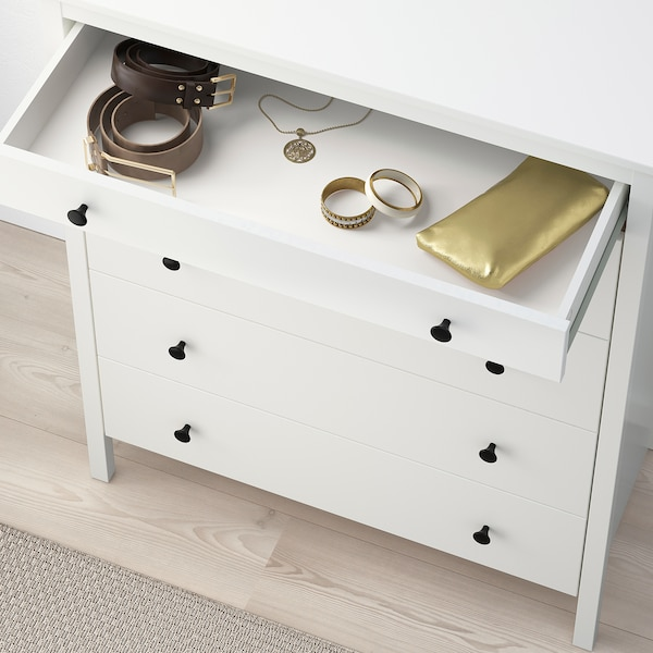 KOPPANG Chest of 5 drawers, white, 90x114 cm