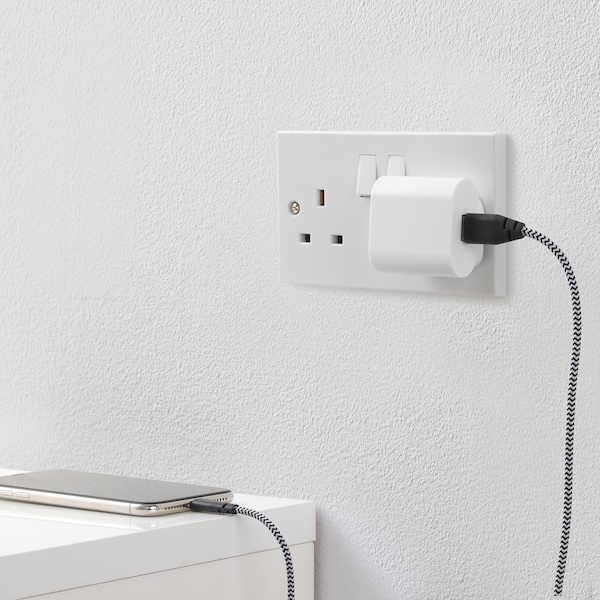 KOPPLA 1-port USB charger white 46 mm 51 mm