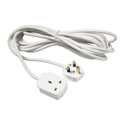 KOPPLA extension cord, earthed white