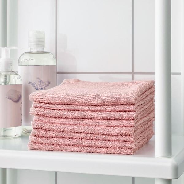 KORNAN Washcloth, pink, 30x30 cm