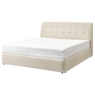 KORTGARDEN سرير أوتومان, Kimstad أبيض-عاجي, 180x200 سم