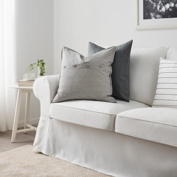 KRISTIANNE cushion cover white/dark grey striped 50 cm 50 cm