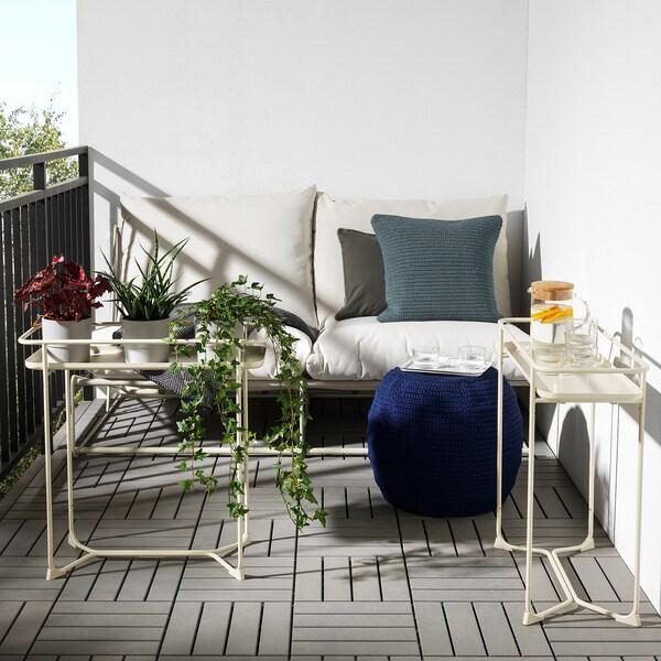 KRYDDPEPPAR plant stand in/outdoor beige 66 cm 29 cm 65 cm
